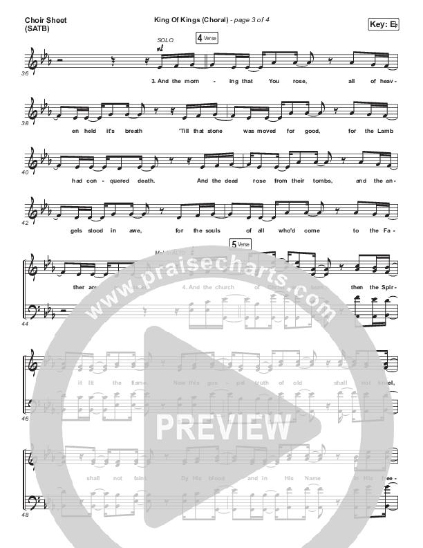 King Of Kings (Choral) Choir Sheet (SATB) (PraiseCharts Choral / Hillsong Worship / Arr. Luke Gambill)