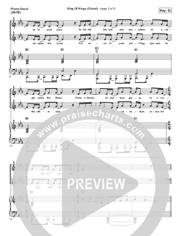 King Of Kings (Choral) Piano/Vocal (SATB) (PraiseCharts Choral / Hillsong Worship / Arr. Luke Gambill)