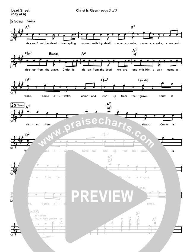 Christ Is Risen Lead Sheet (Melody) (Matt Maher)