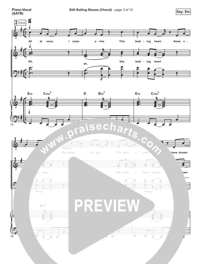 Still Rolling Stones (Choral) Orchestration (PraiseCharts Choral / Lauren Daigle / Arr. Luke Gambill)