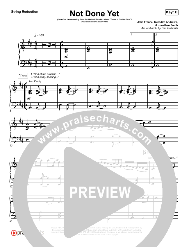 Not Done Yet String Pack (Vertical Worship)