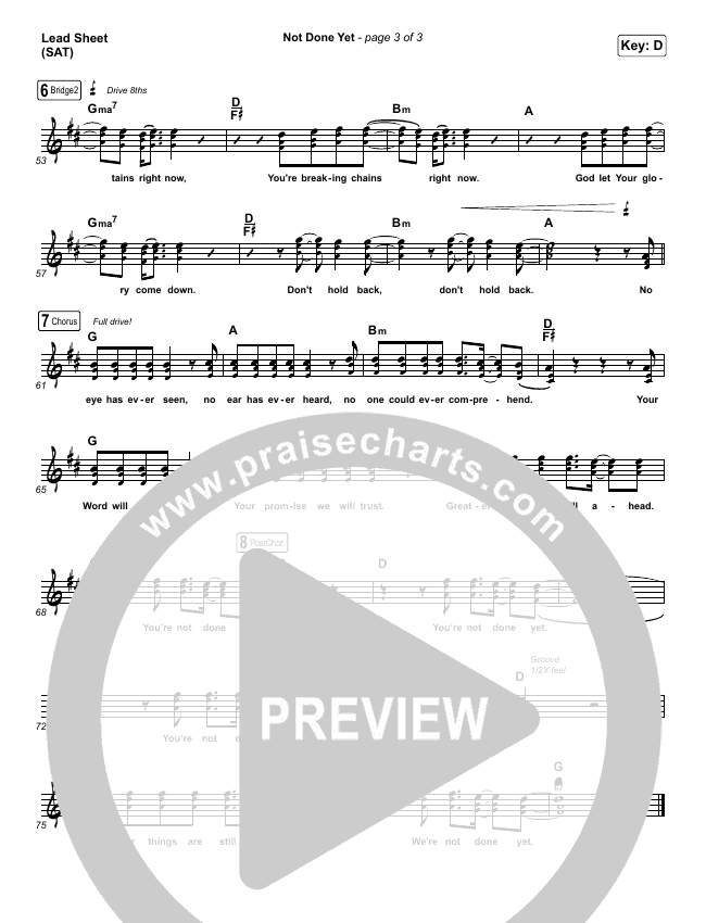Not Done Yet Orchestration & Finale (Vertical Worship)