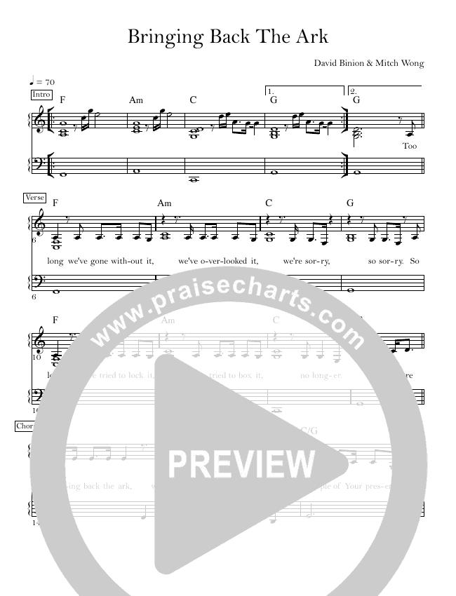 Bringing Back The Ark Lead & Piano (David & Nicole Binion / William McDowell)