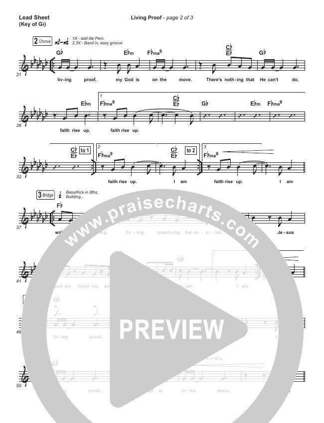 Living Proof Lead Sheet (Melody) (David & Nicole Binion / Steffany Gretzinger)