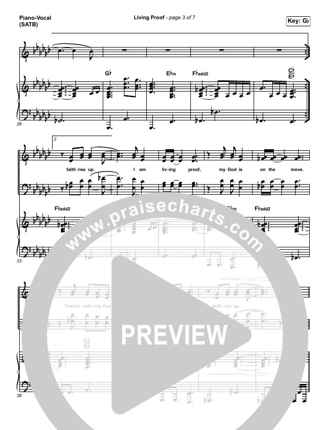 Living Proof Piano/Vocal (SATB) (David & Nicole Binion / Steffany Gretzinger)