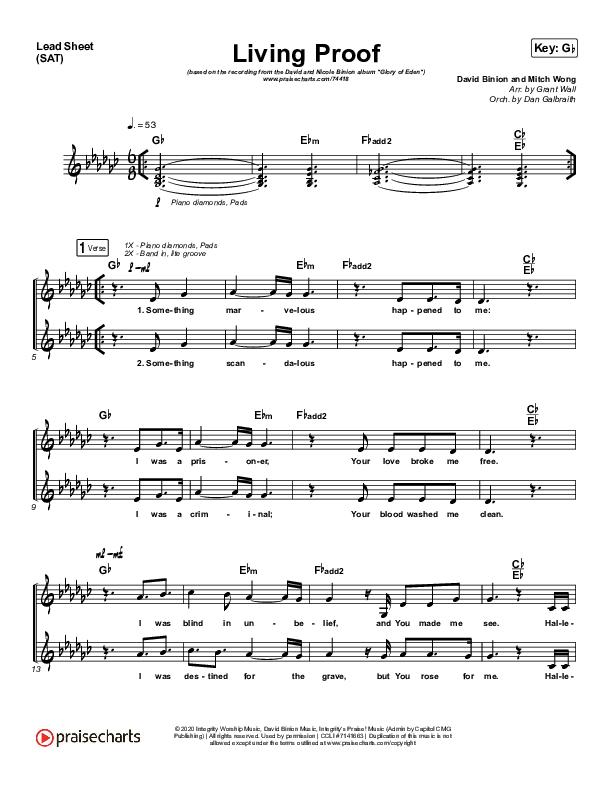 Living Proof Orchestration (David & Nicole Binion / Steffany Gretzinger)