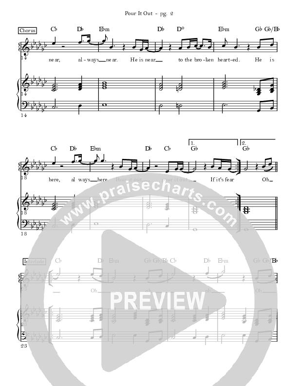 Pour It Out Lead & Piano (David & Nicole Binion)