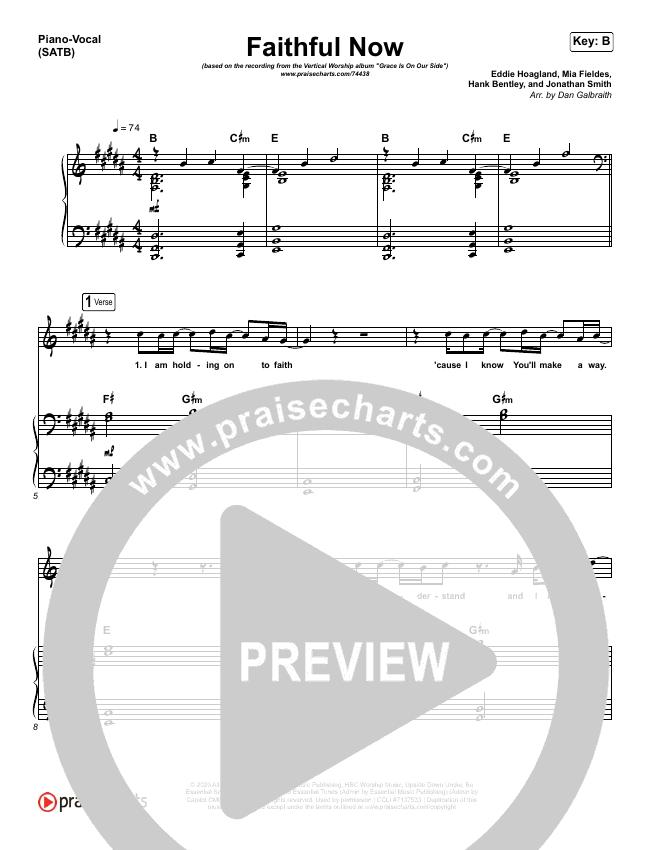 Faithful Now Piano/Vocal (SATB) (Vertical Worship)