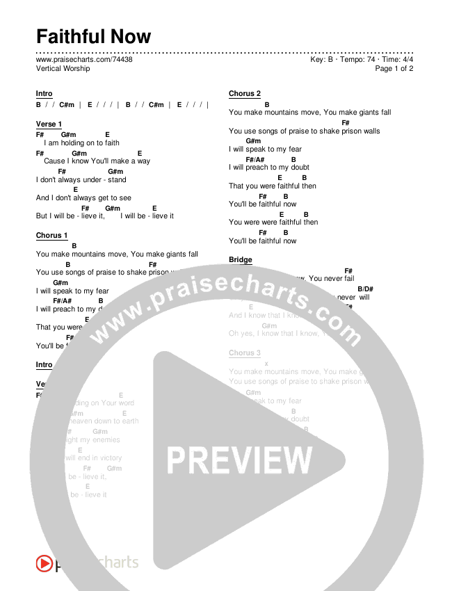 Faithful Now Chords & Lyrics (Vertical Worship)