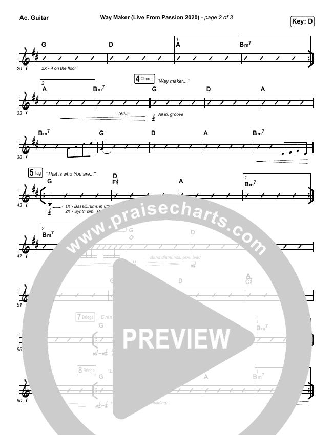 Way Maker (Live From Passion 2020) Rhythm Chart (Passion / Kristian Stanfill / Cody Carnes / Kari Jobe)