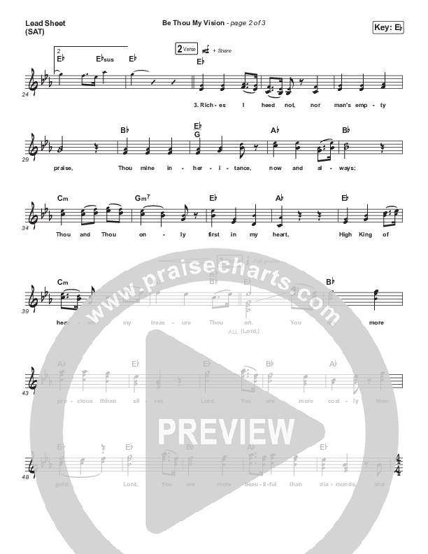 Be Thou My Vision Lead Sheet (SAT) (Shane & Shane/The Worship Initiative)