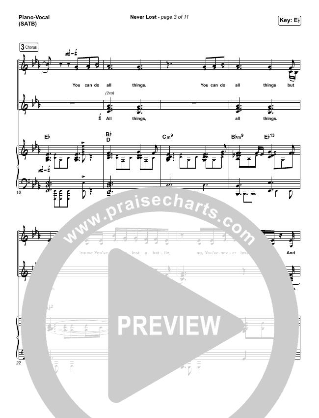 Never Lost (Choral) Piano/Vocal (SATB) (PraiseCharts Choral / Elevation Worship)