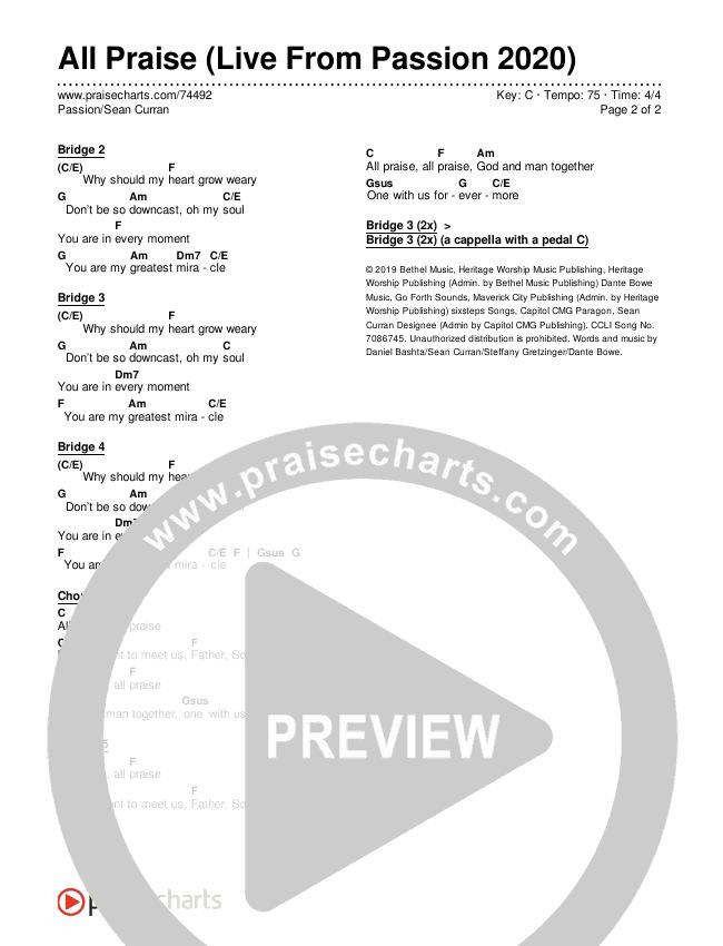 Shall Not Want (Choral) Lead Sheet (SAT) (PraiseCharts Choral / Maverick City Music / Elevation Worship / Arr. Luke Gambill)