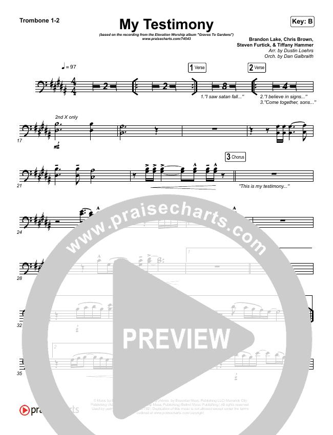 My Testimony Brass Pack (Elevation Worship)