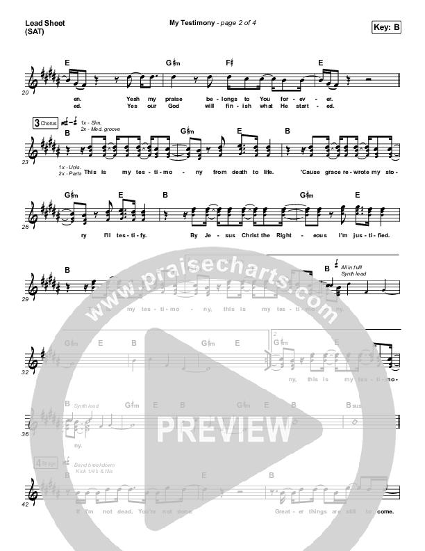 My Testimony Lead & Piano/Vocal (Elevation Worship)
