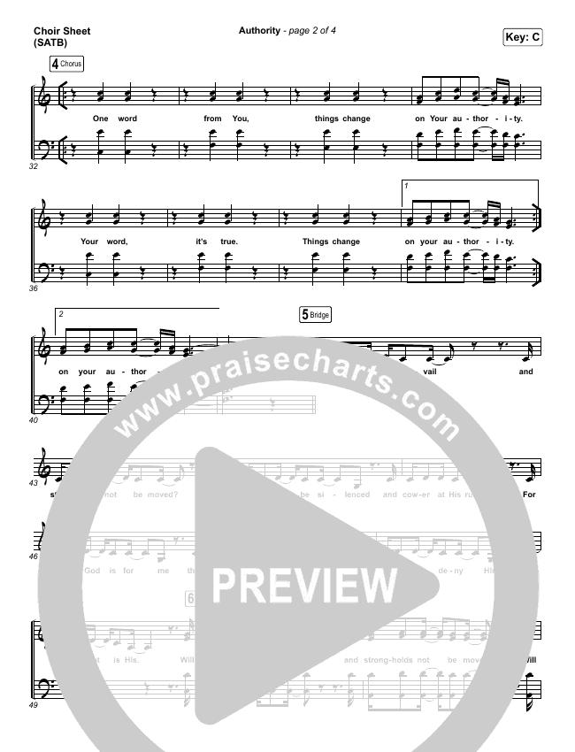 Authority Choir Sheet (SATB) (Elevation Worship)