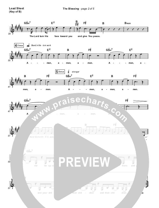 The Blessing (Live) Lead Sheet (Melody) (Elevation Worship / Kari Jobe / Cody Carnes)