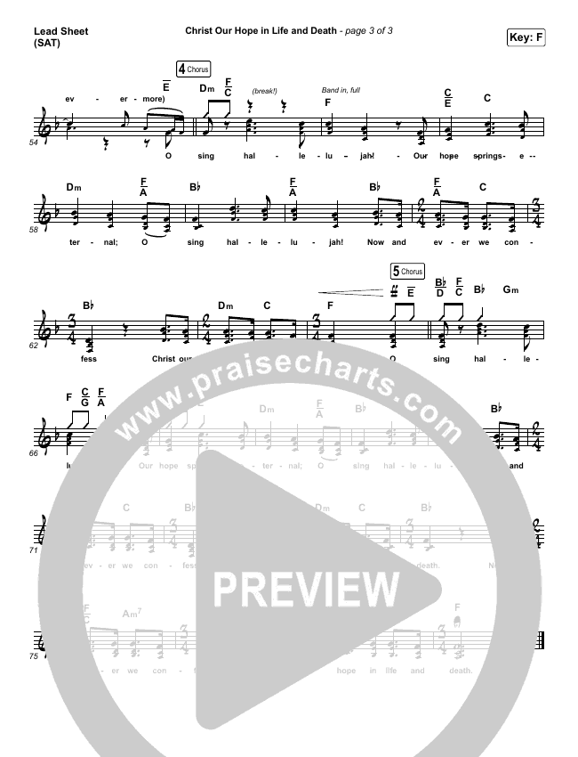 Christ Our Hope In Life And Death (Choral) Piano/Vocal (SATB) (PraiseCharts Choral / Matt Papa / Keith & Kristyn Getty)