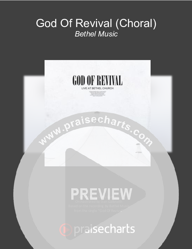 God Of Revival (Choral) Orchestration (PraiseCharts Choral / Bethel Music / Arr. Luke Gambill)