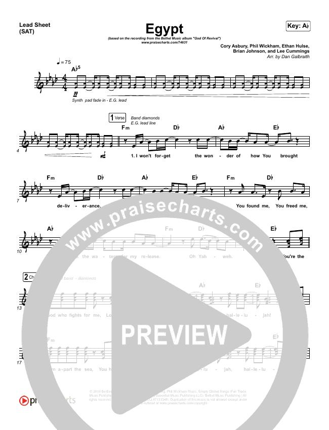 Egypt Lead & Piano/Vocal (Bethel Music / Cory Asbury)