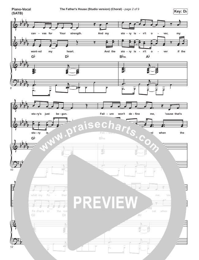 The Father's House (Choral) Orchestration (PraiseCharts Choral / Cory Asbury)
