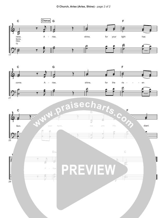 O Church Arise (Simplified) Hymn Sheet (Keith Getty / Kristyn Getty)