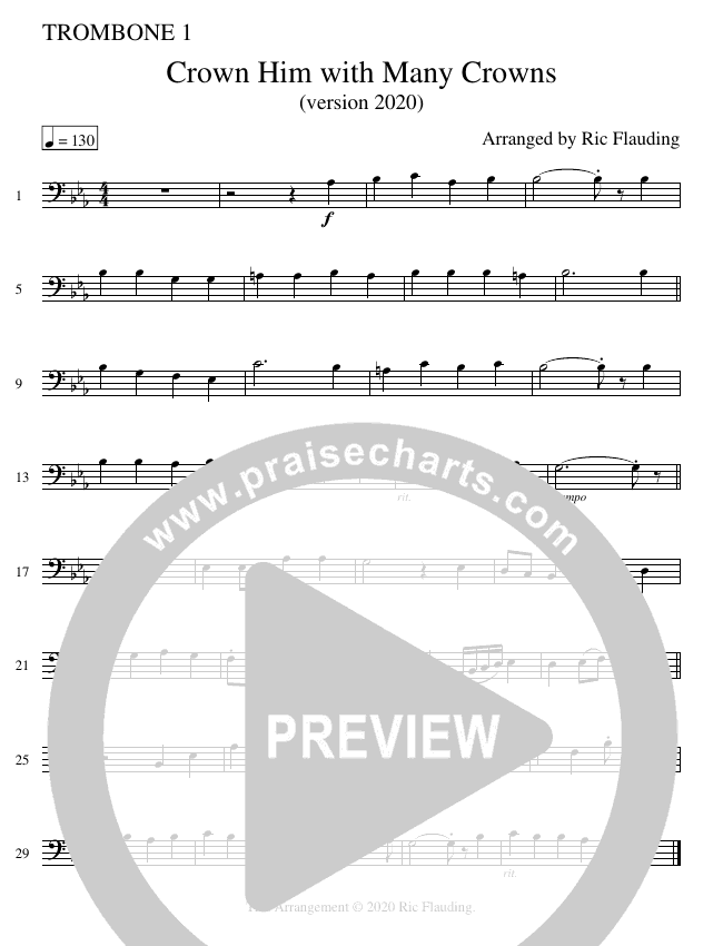 Crown Him With Many Crowns (Instrumental) Brass Ensemble (Ric Flauding)