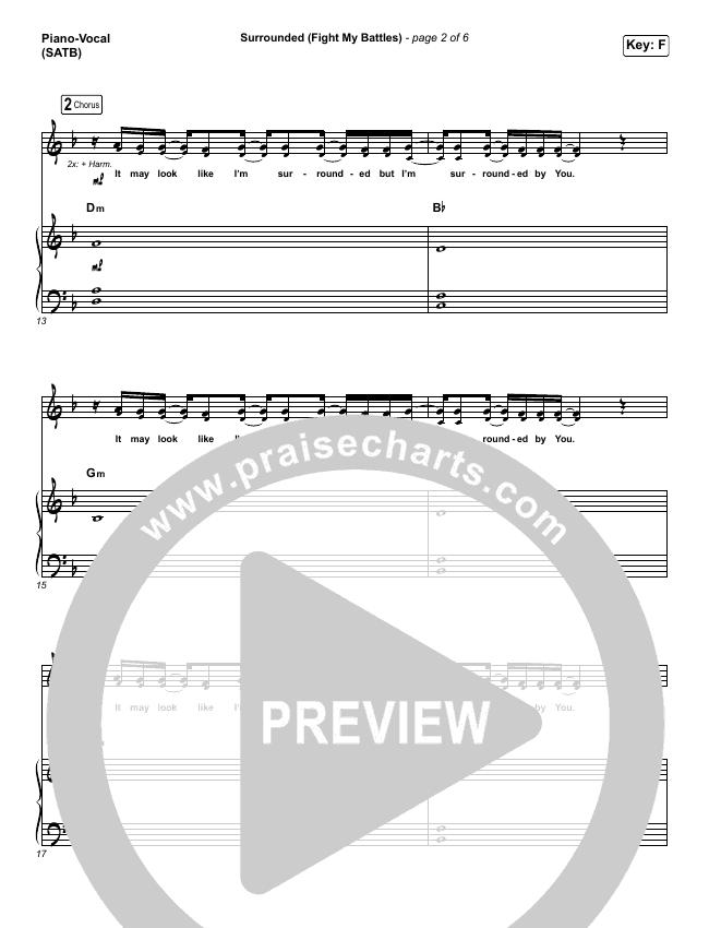 Surrounded (Fight My Battles) Piano/Vocal (SATB) (Bethel Music / Kari Jobe)