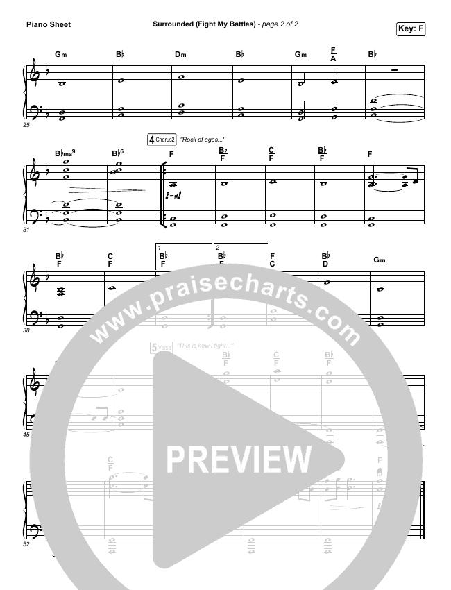 Surrounded (Fight My Battles) Piano Sheet (Bethel Music / Kari Jobe)