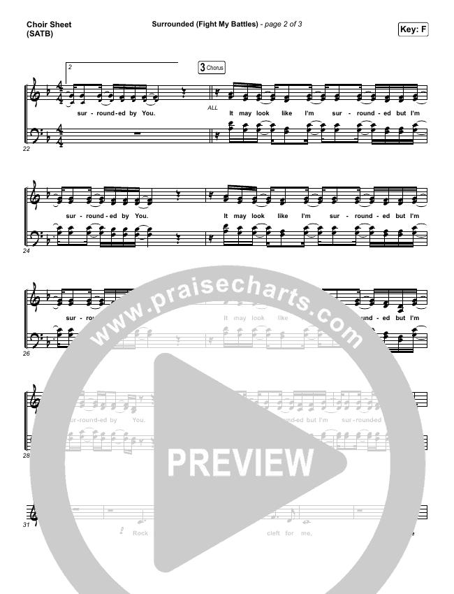 Surrounded (Fight My Battles) Choir Sheet (SATB) (Bethel Music / Kari Jobe)