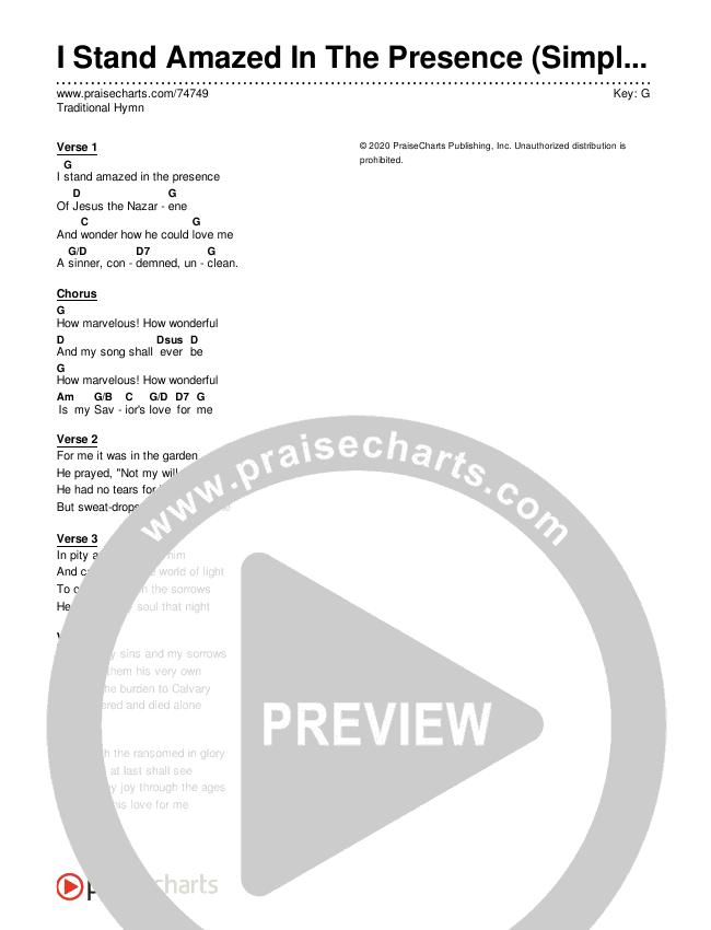 My Savior's Love (Simplified) Chord Chart (Traditional Hymn)