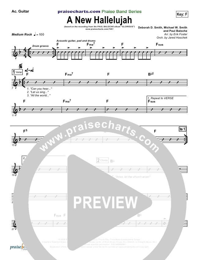 A New Hallelujah Rhythm Chart Paul Baloche Praisecharts