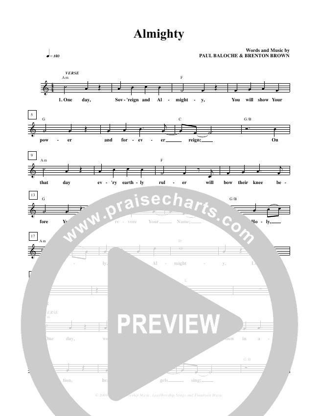 Almighty Lead & Piano/Vocal (Paul Baloche)