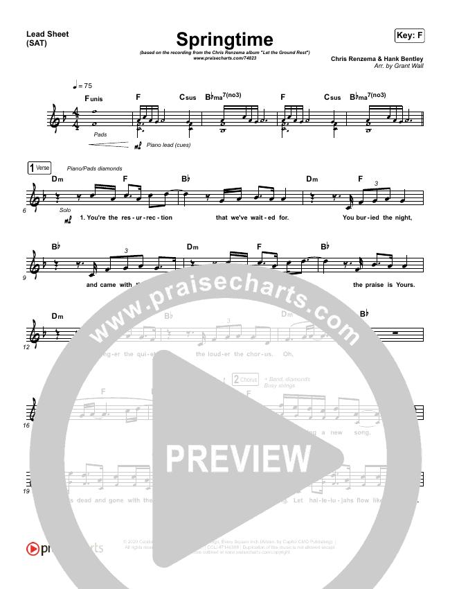 Springtime Lead Sheet (SAT) (Chris Renzema)