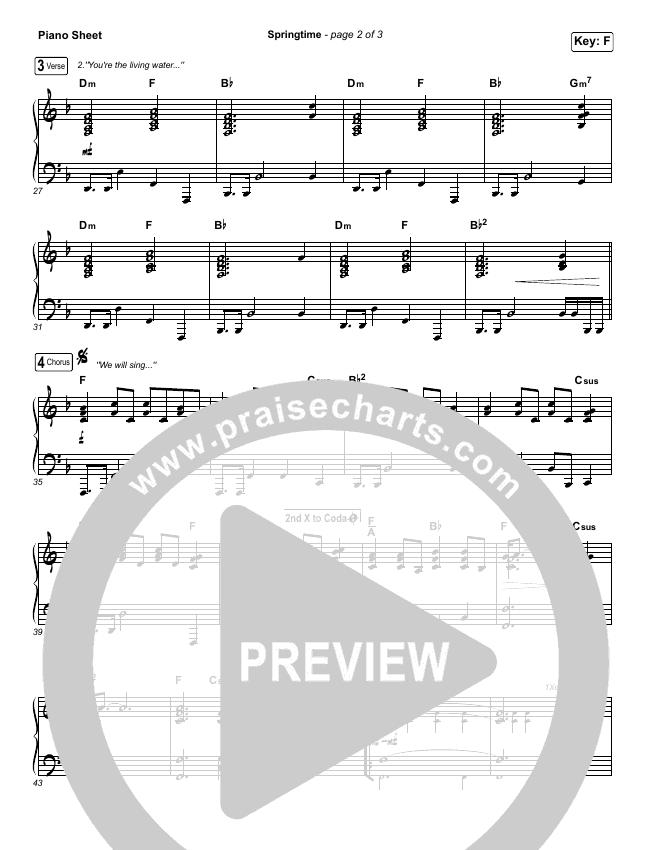 Springtime Piano Sheet (Chris Renzema)