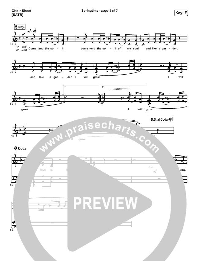 Springtime Choir Sheet (SATB) (Chris Renzema)