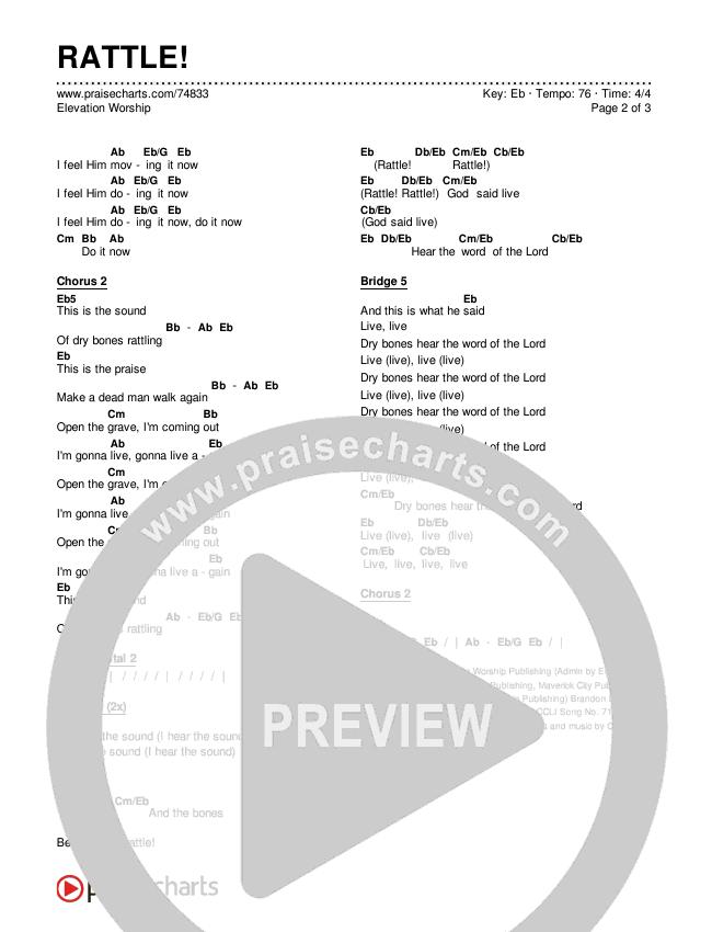 RATTLE! Chords & Lyrics (Elevation Worship)