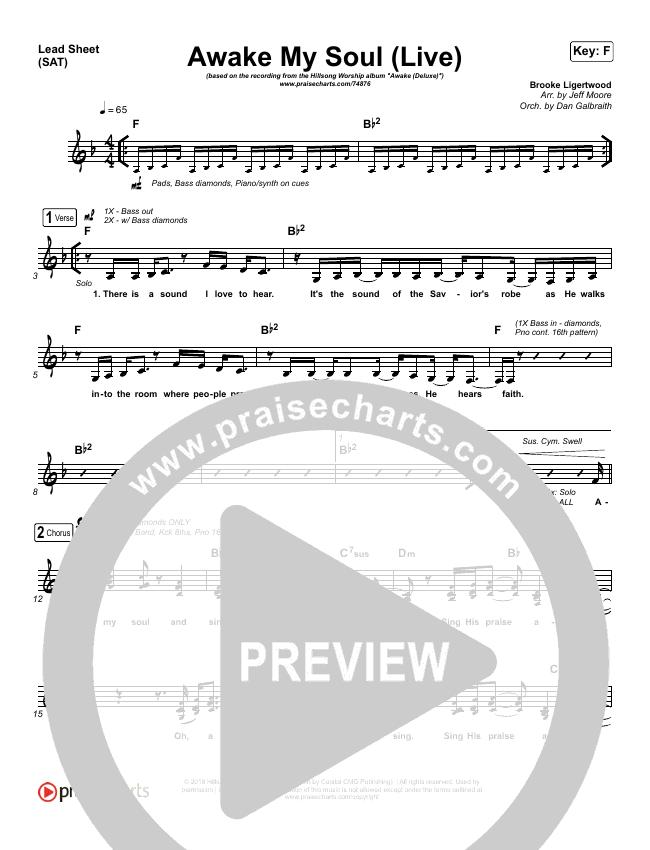 Awake My Soul (Live) Lead & Piano/Vocal (Hillsong Worship)