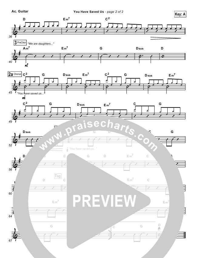 You Have Saved Us Rhythm Chart (Paul Baloche)