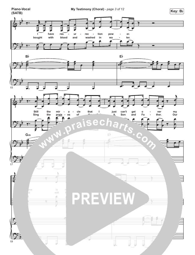 My Testimony (Choral) Orchestration (PraiseCharts Choral / Elevation Worship)