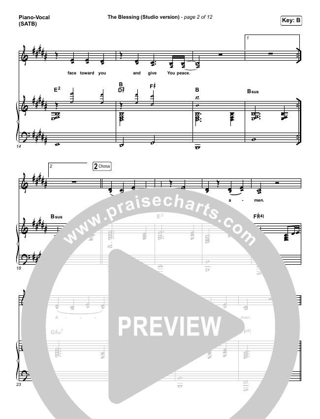 The Blessing (Studio) Piano/Vocal (SATB) (Kari Jobe / Cody Carnes)