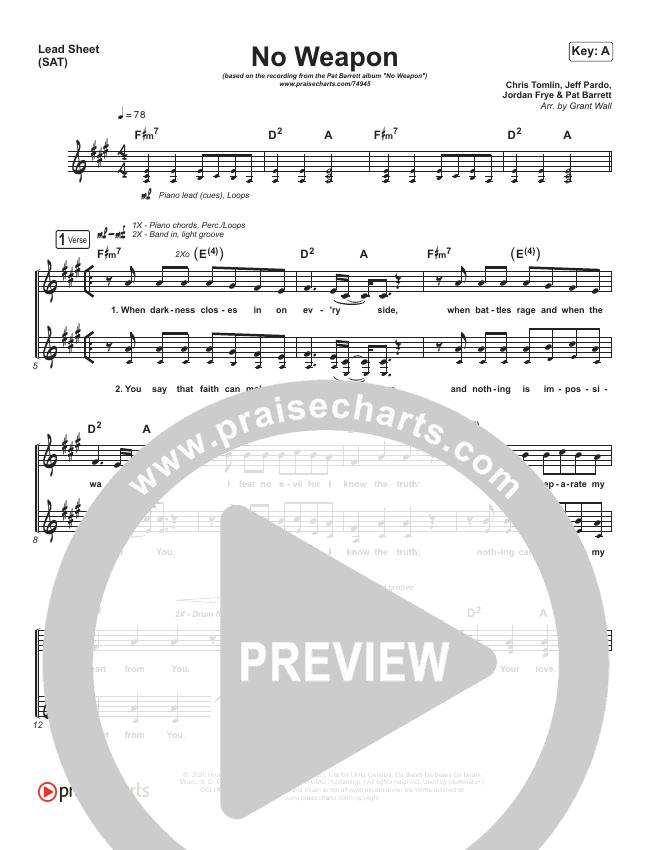 No Weapon Lead & Piano/Vocal (Pat Barrett)