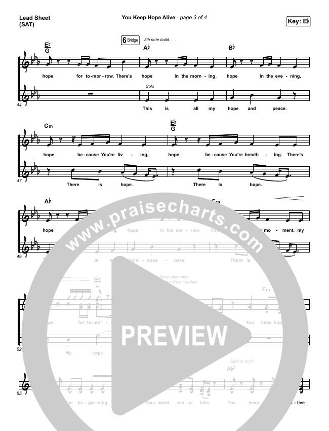 You Keep Hope Alive Orchestration & Finale (Mandisa / Jon Reddick)