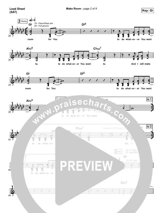 Make Room Lead Sheet (SAT) (The Church Will Sing / Elyssa Smith / Community Music)