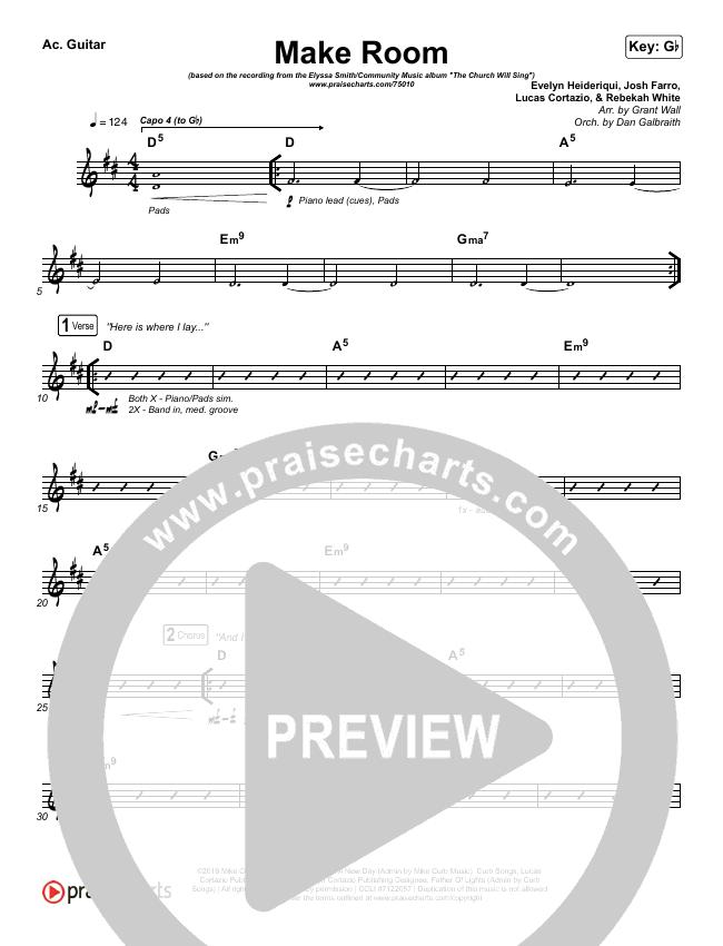 Make Room Rhythm Chart (The Church Will Sing / Elyssa Smith / Community Music)