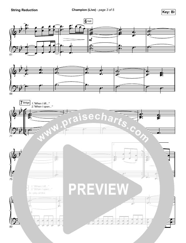 Champion (Live) String Pack (Bethel Music / Dante Bowe)