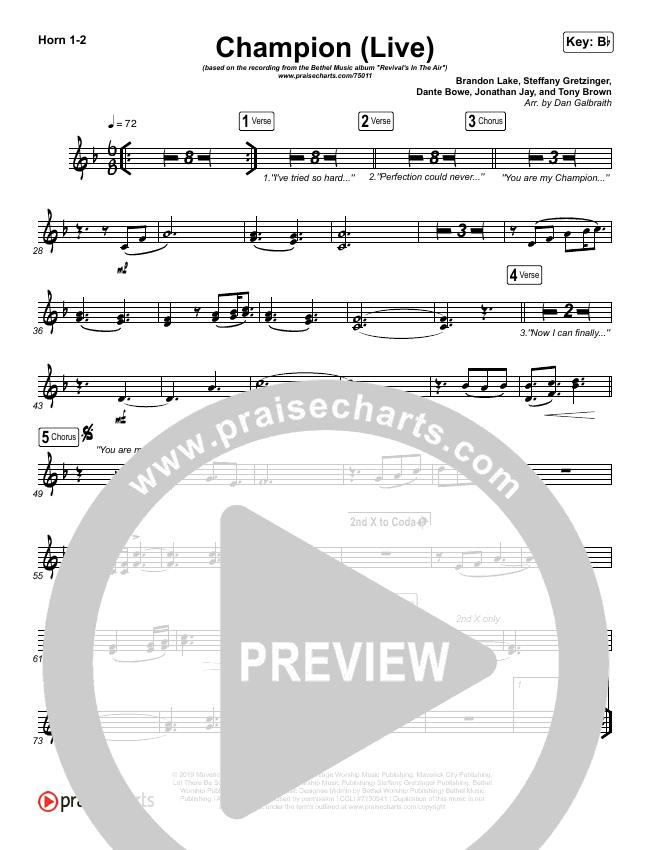 Champion (Live) Brass Pack (Bethel Music / Dante Bowe)