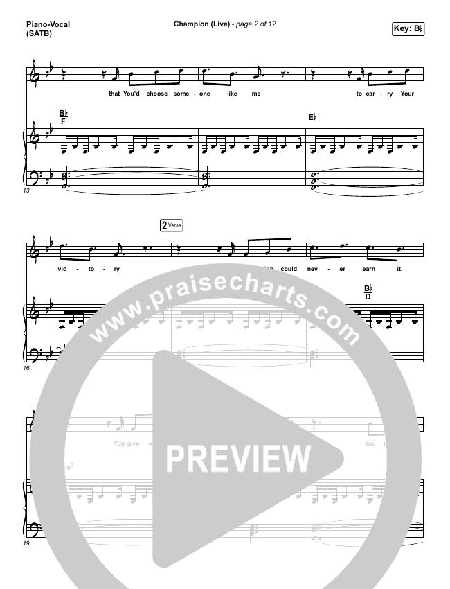 Champion (Live) Piano/Vocal (SATB) (Bethel Music / Dante Bowe)