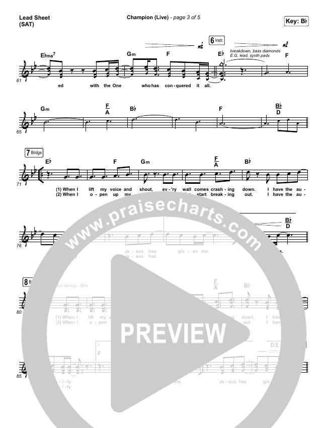 Champion (Live) Orchestration & Finale (Bethel Music / Dante Bowe)