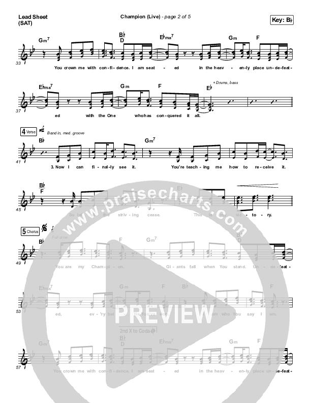 Champion (Live) Lead Sheet (SAT) (Bethel Music / Dante Bowe)